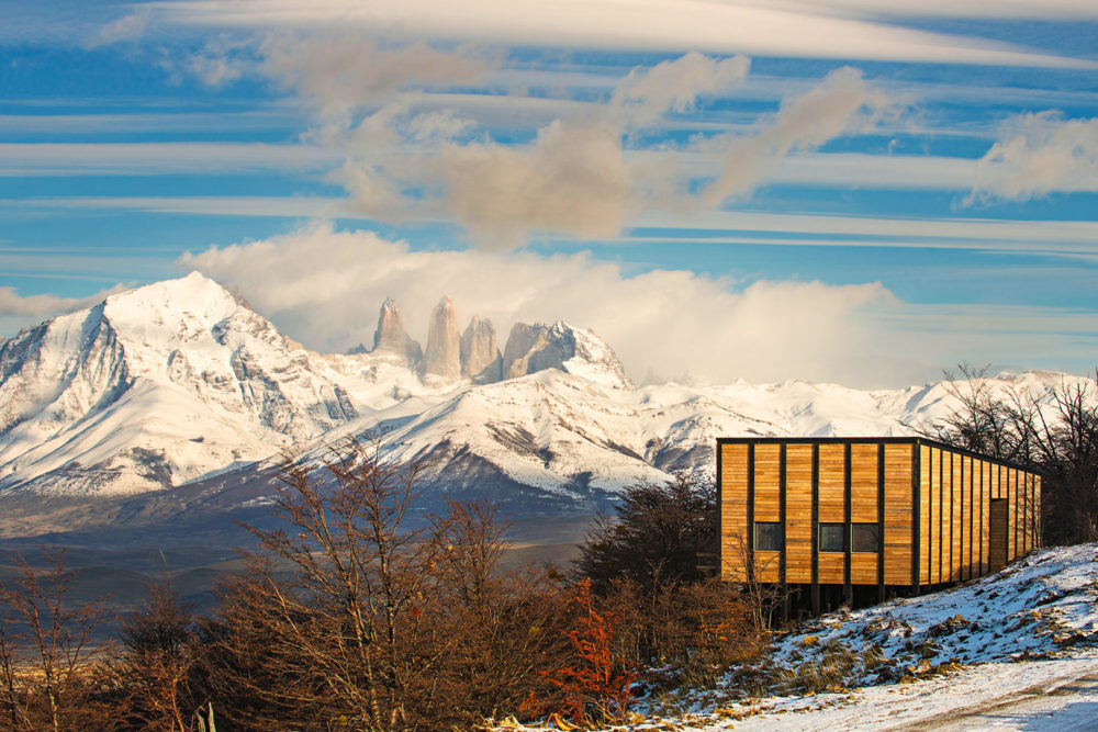 Awasi Patagonia, overlooking Torres del Paine National Park.