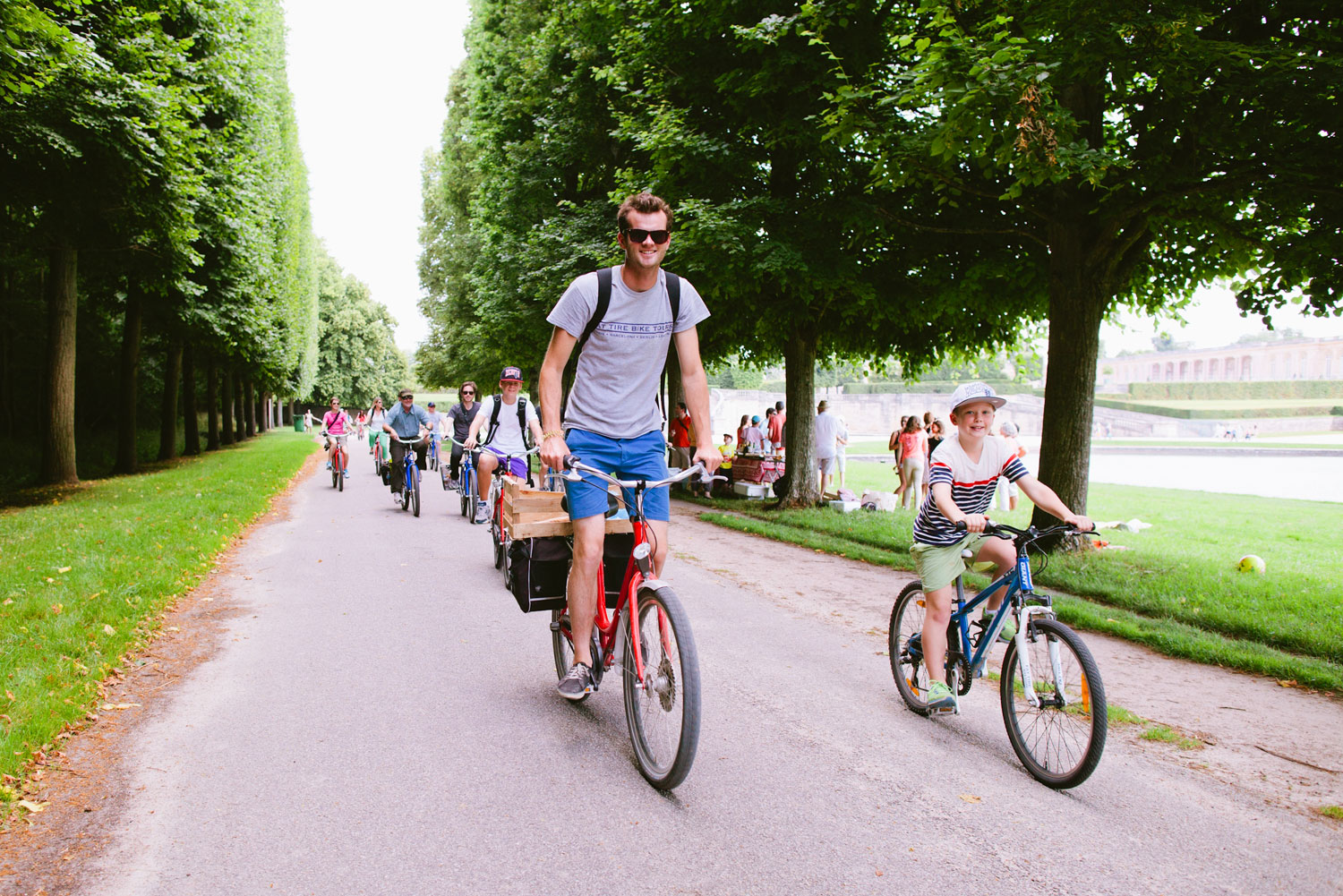 Cycling around the 2000-acres at Palace of Versailles.
