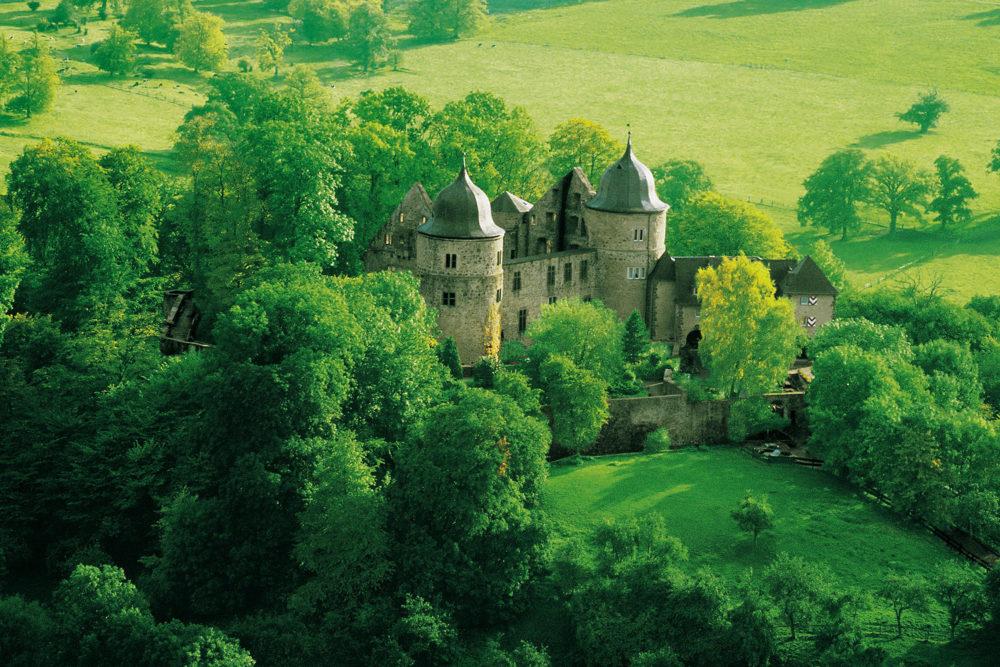 The 'Sleeping Beauty' castle, (Deutsche Märchenstraße) in Hofgeismar on the Germany Fairytale Route.