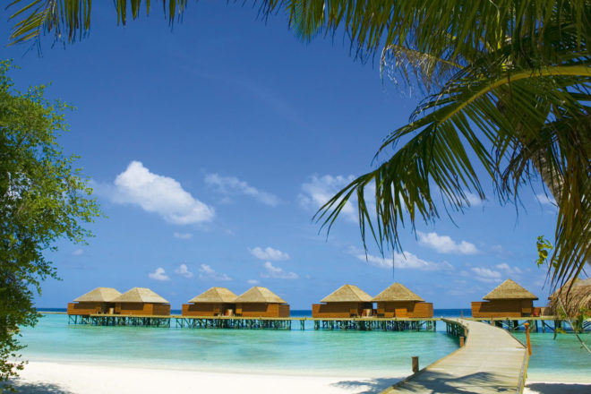 Veligandu Island is surrounded by a lagoon and a private house reef.