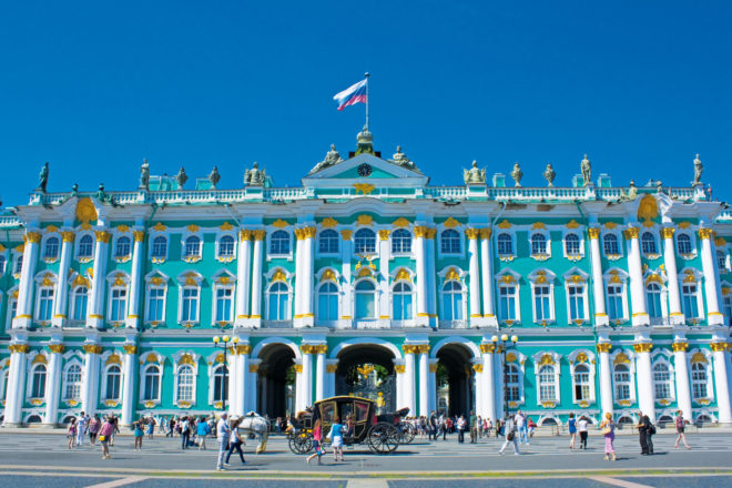The Winter Palace: 1786 doors, 1945 windows, 1500 rooms and 117 staircases.