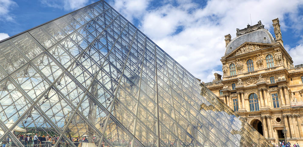 The Pyramide at Musée du Louvre.