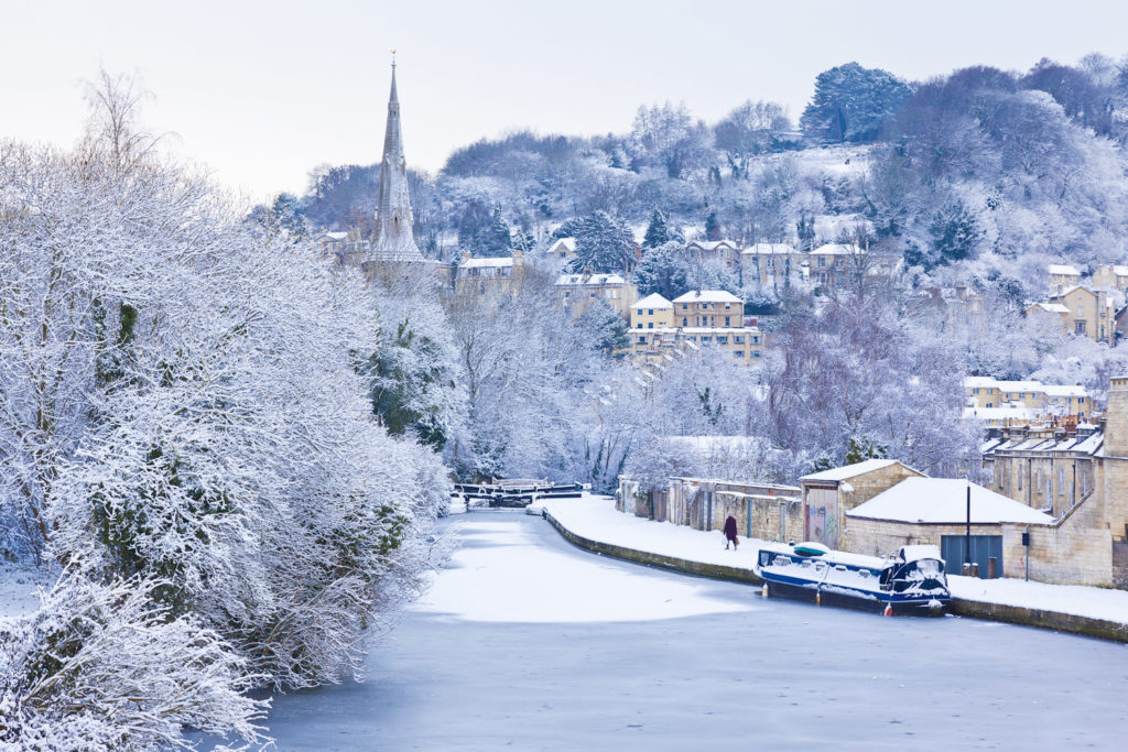 England's Bath in winter