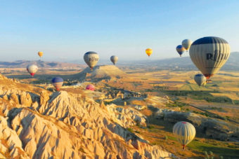 Winning 'Your Shot' image, taken of Cappadocia, Turkey.
