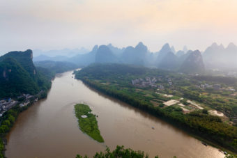 Li River in Yangshuo, China.