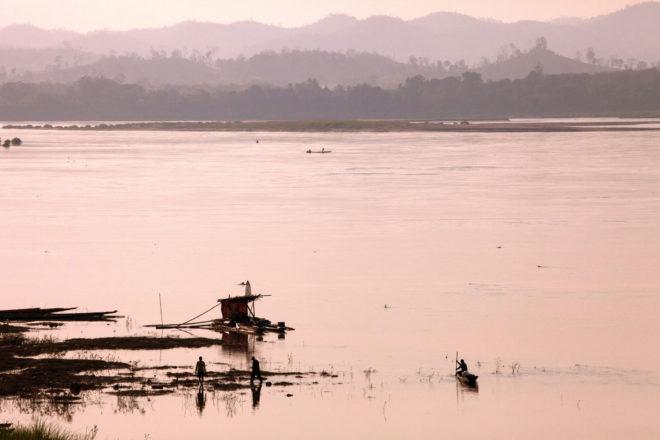 Mekong River in Soi Chai Khong, Thailand.