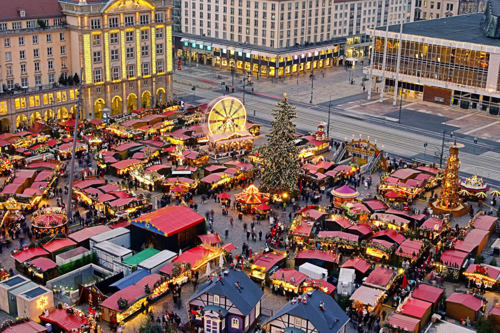 Dresden Striezelmarkt, Germany.