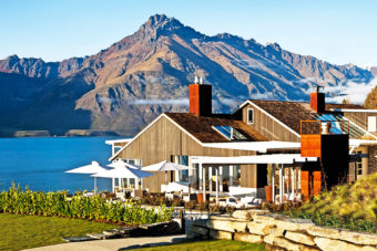 Matakauri Lodge on the banks of Lake Wakatipu outside of Queenstown, NZ.