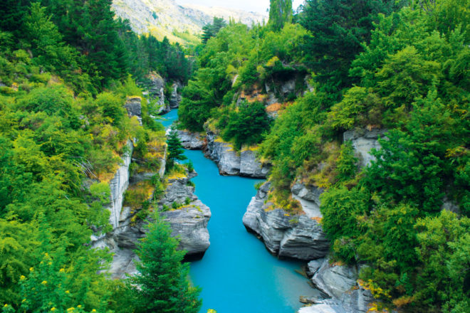 Shotover River near Queenstown, NZ.