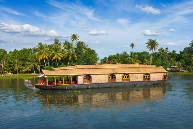 Houseboat in Kerala; featured as part of Cosmos Tours through Asia