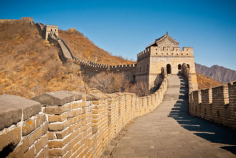 The Great Wall; one of China's ever-popular attractions