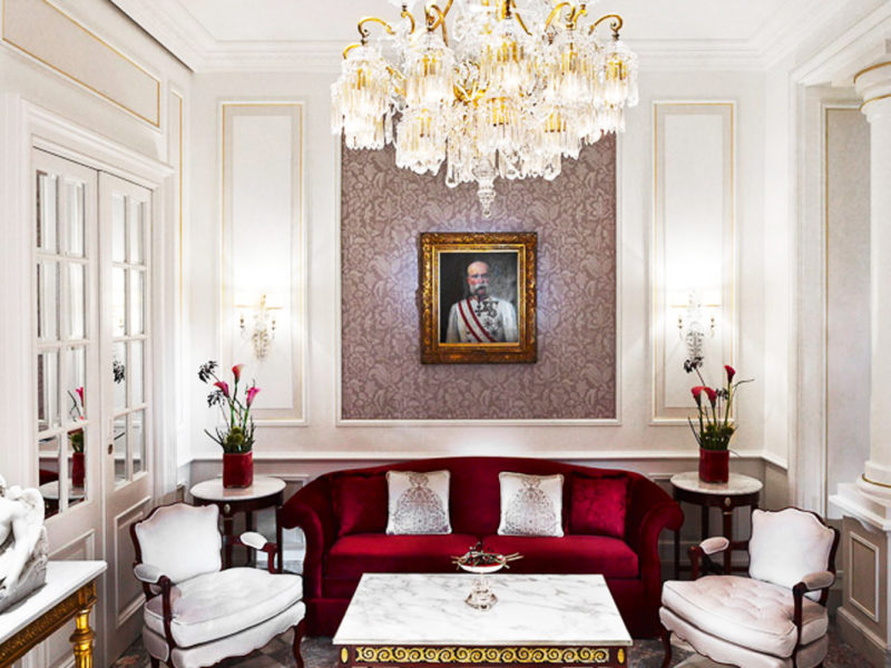 Schonbrunner Loge lounge at Hotel Sacher.