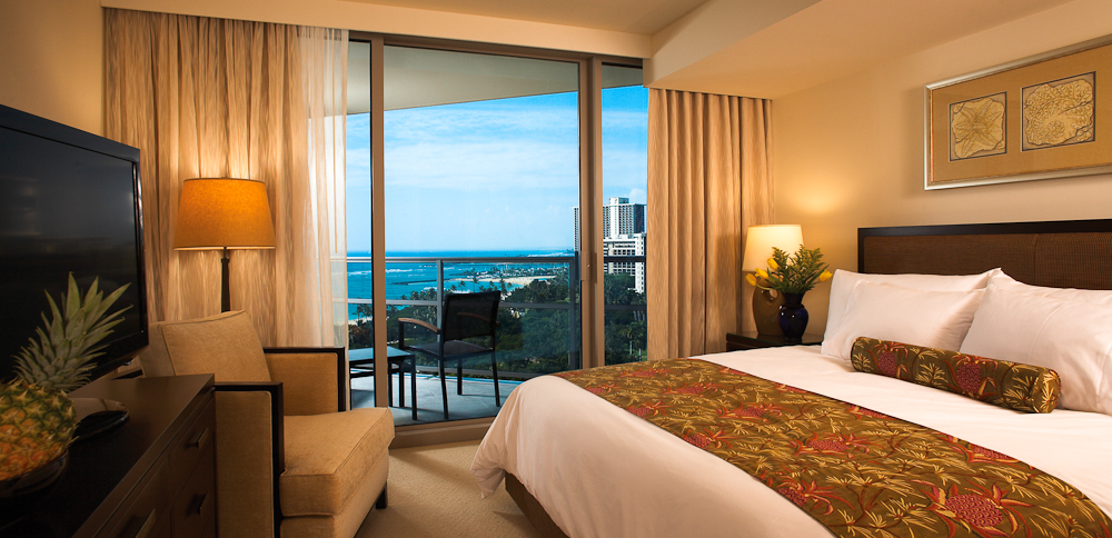 Five-star luxury inside a one-bedroom ocean view suite at Trump International Hotel Waikiki