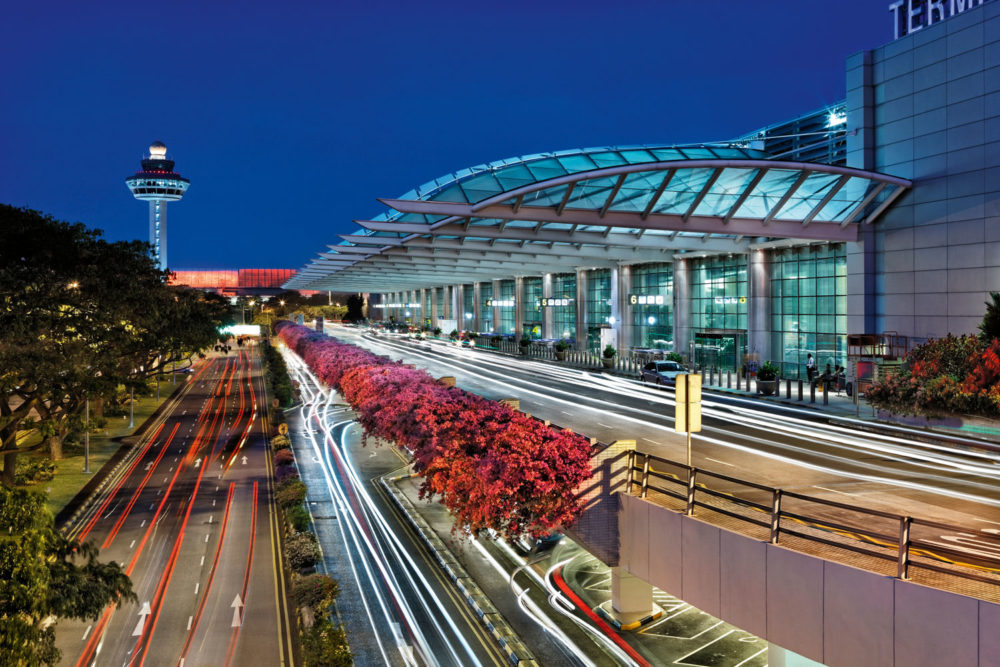 Busy terminal 2 at Singapore's Changi International Airport.