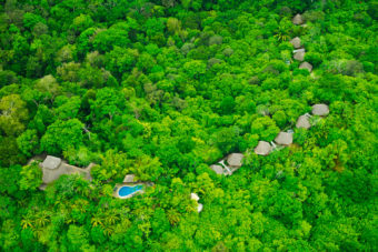 Welcome to the jungle - an aerial of Lapa Rios Ecolodge.