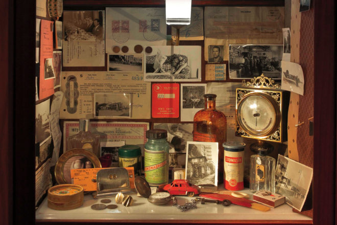 One of the many detailed displays in the Museum of Innocence.