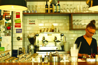 One of Vienna's many modern coffee houses.