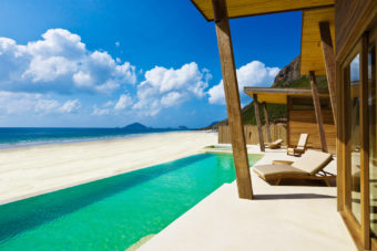 Each villa at Six Senses Con Dao has a private infinity pool overlooking the beachfront.