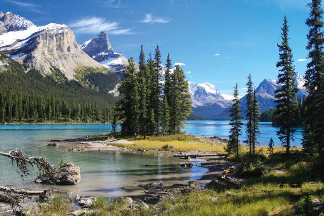 Spirit Island on Maligne Lake, Canada.