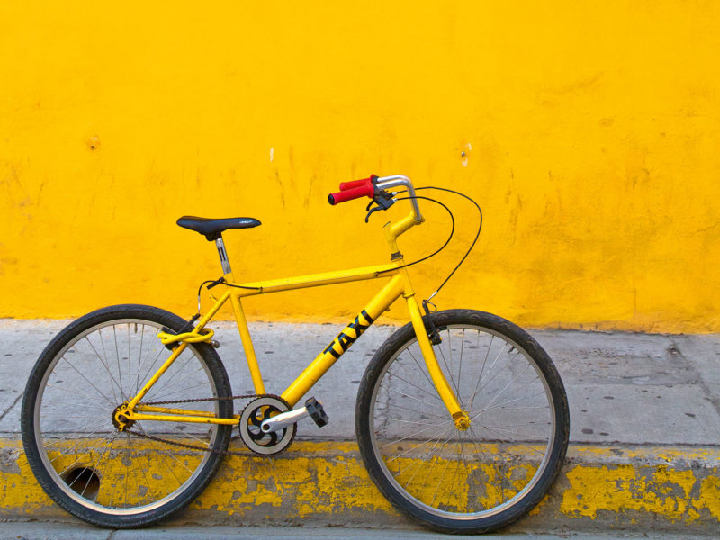Catching a taxi takes pedal power in Cartagena.