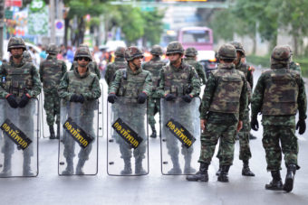 Thailand's 2010 military coup.