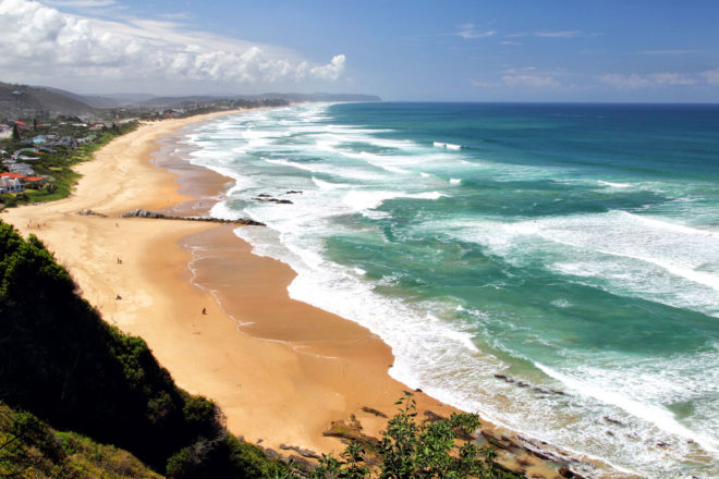 Beach of Wilderness at the Garden Route in South Africa.