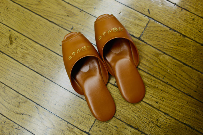 There are still thoughtful touches at Asakusa Hotel and Capsule, like guest slippers.