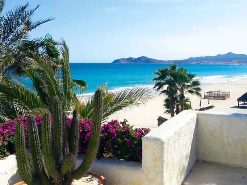 Overlooking the beach at Las Ventanas al Paraiso resort in Baja California Sur, Mexico.