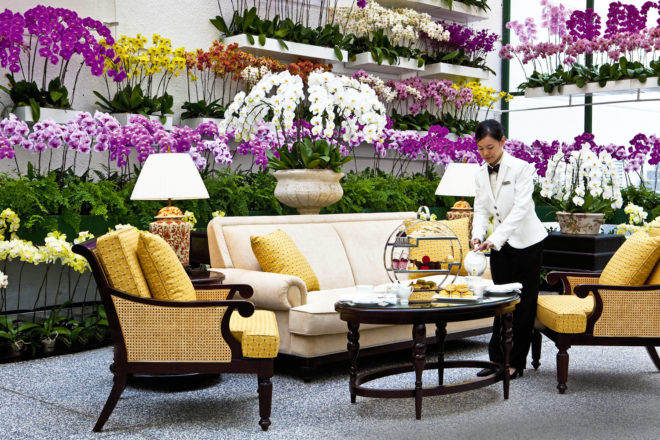 The Orchid Conservatory at The Majestic Hotel Kuala Lumpur.