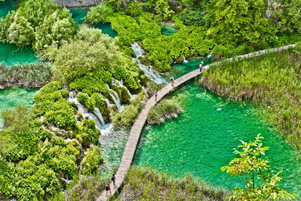 Welcome to Plitvice Lakes National Park, Plitvicka Jezera, Croatia.