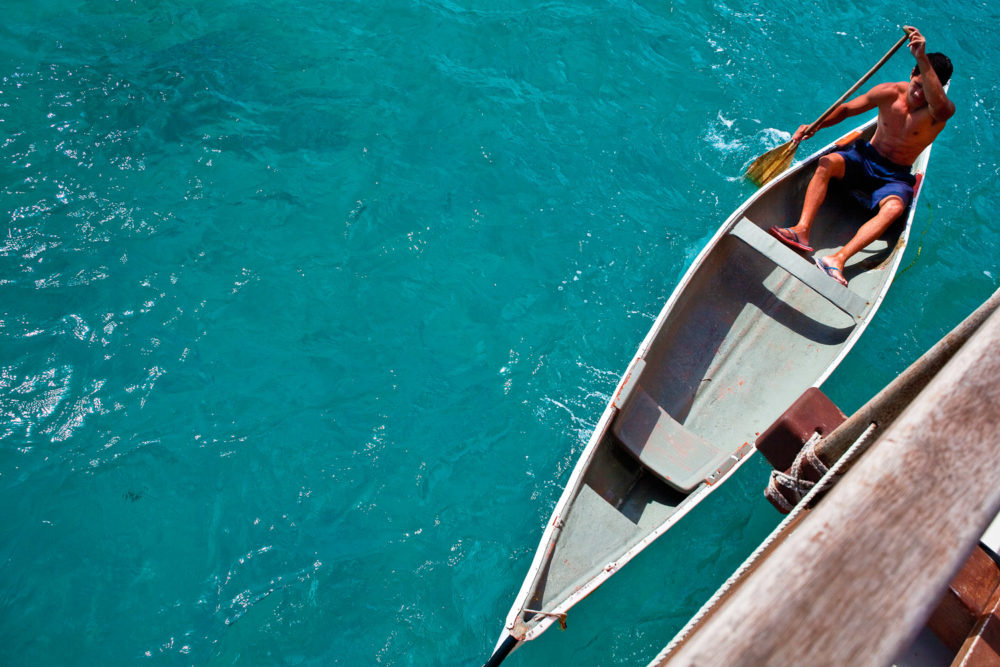 Vibrant turquoise waters engulf the Cook Islands.