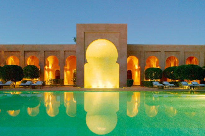 Amanjena Spa in Marrakech, Morocco.