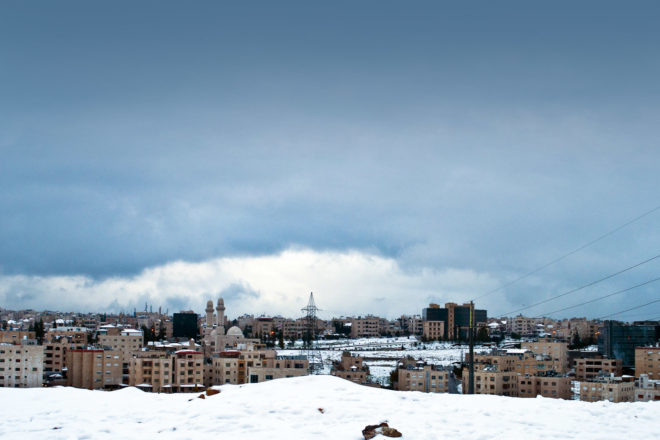 Snow blankets Jordan after Storm Alexa sweeps through.