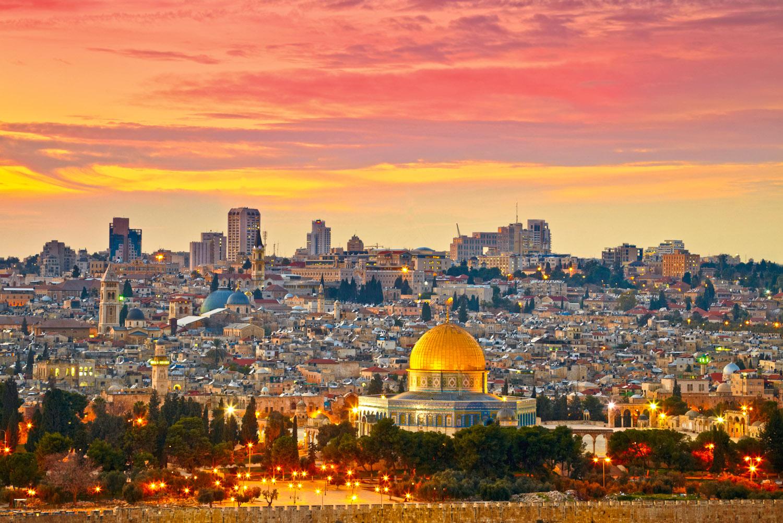 Jerusalem's Old City skyline, Israel.
