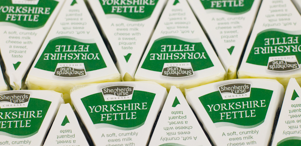 Yorkshire Fettle - a soft crumbly ewes milk cheese with a sweet, piquant taste
