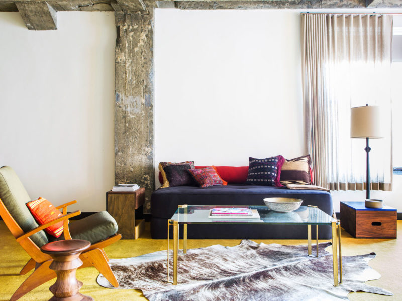 Inside a guest suite at the Ace Hotel Los Angeles.