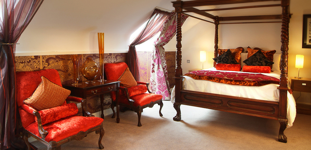 Inside a guest suite at Clontarf Castle Hotel in Dublin, Ireland