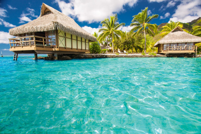 Bora Bora in the South Pacific.