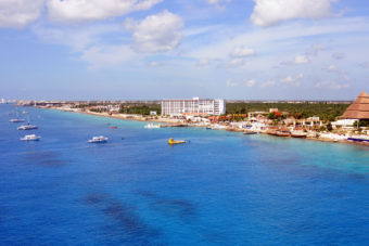 Port city Cozumel in Mexico.