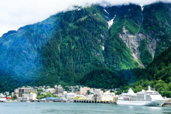 Port city Juneau in Alaska.