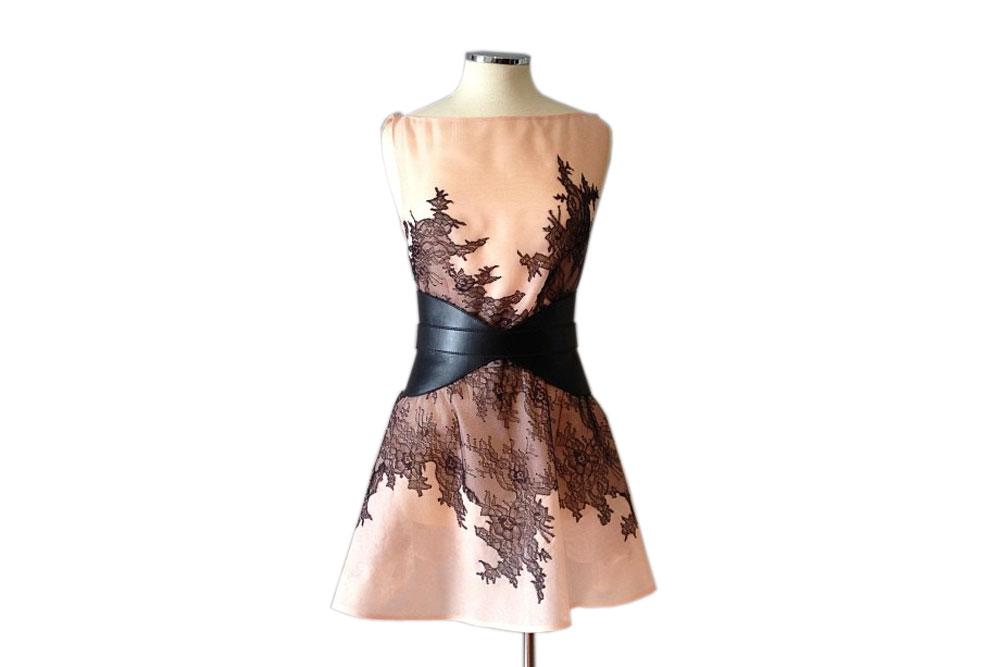 Designer dress by Athens-based Dimitris Petrou.