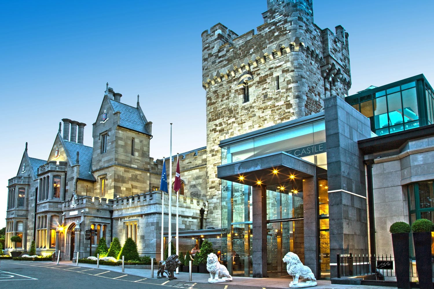 Clontarf Castle Hotel combines an 800-year-old facade with contemporary design.