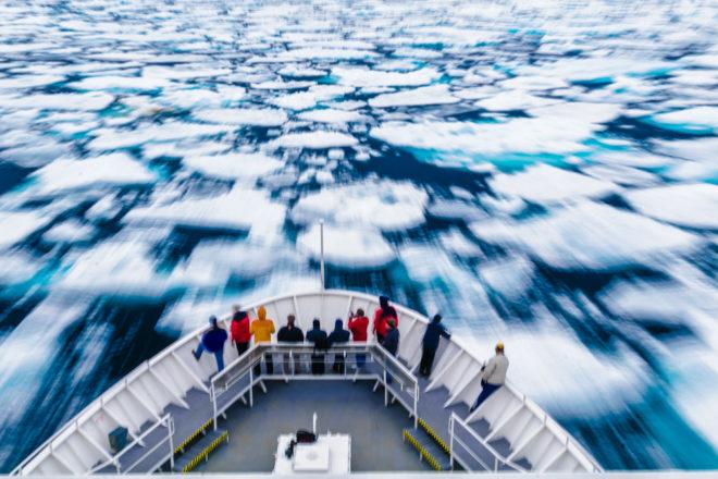 Cruising the Arctic Circle.