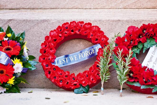 Commemorating ANZAC Day overseas.
