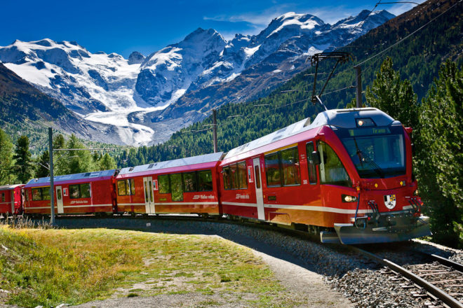 Geneva to Vienna by train, ranked #97 in our countdown of '100 Ultimate Travel Experiences of a Lifetime'.