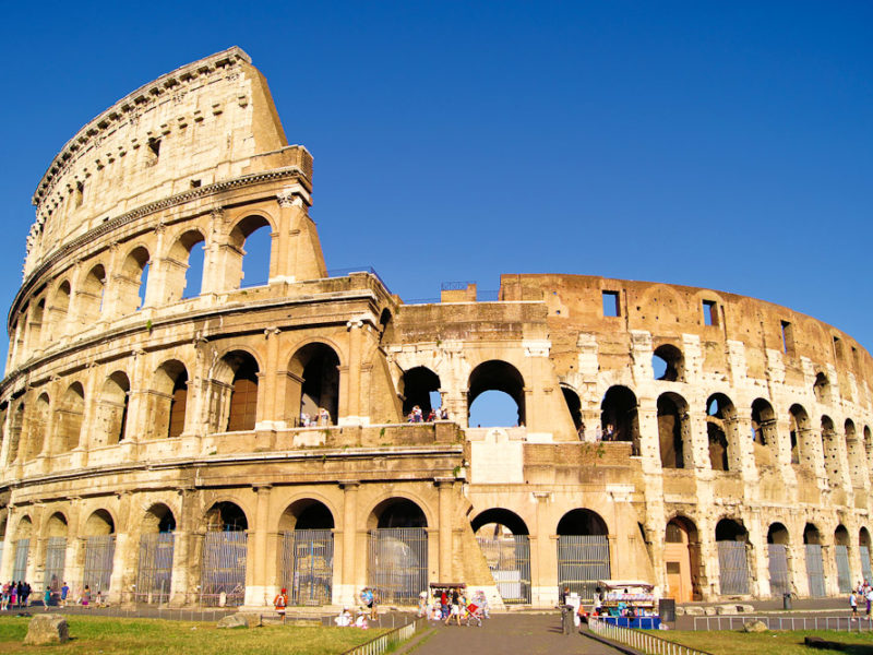 The home of Roman gladiators, The Colosseum.