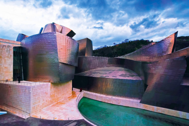 The Guggenheim Museum in Bilbao, Spain, ranked #51 in our countdown of '100 Ultimate Travel Experiences of a Lifetime'.