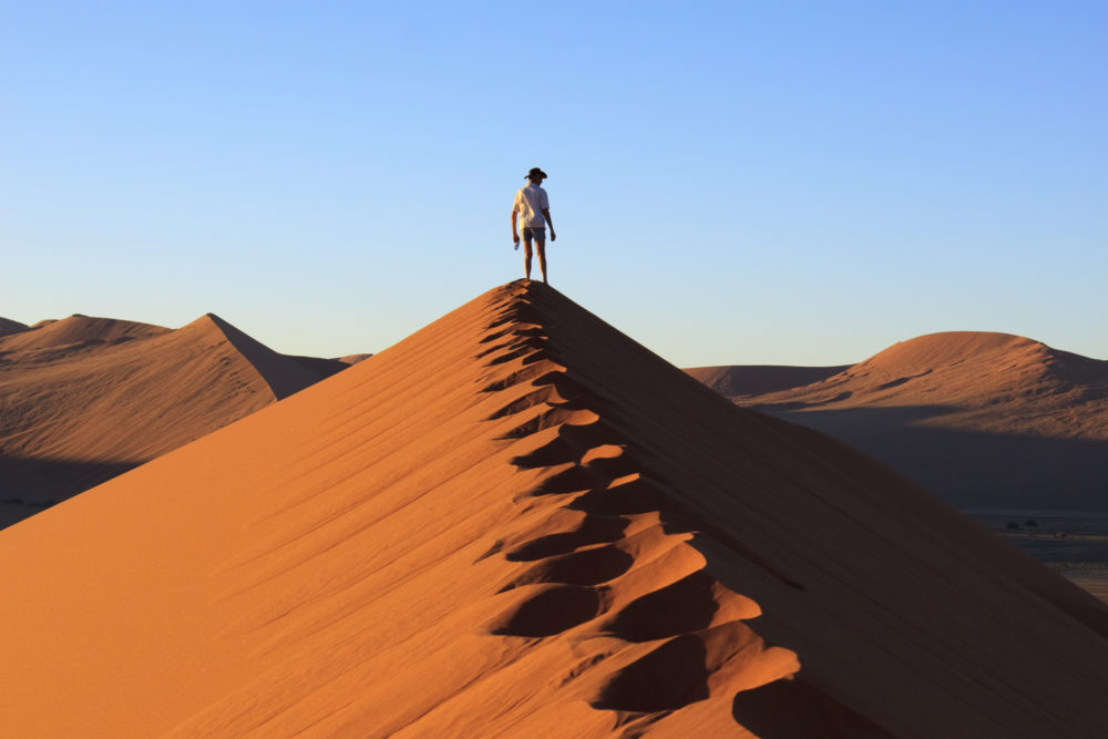 Sand dunes of Namibia, ranked #23 in our countdown of '100 Ultimate Travel Experiences of a Lifetime'.