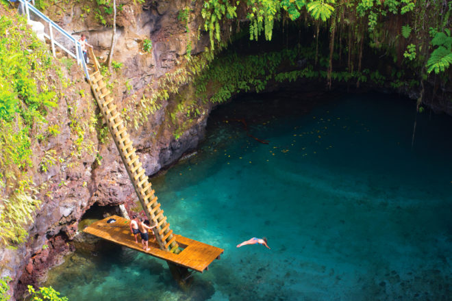 Samoa's To Sua Ocean Trench, ranked #96 in our countdown of '100 Ultimate Travel Experiences of a Lifetime'.
