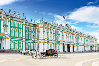 Russia's Hermitage Museum, ranked #15 in our countdown of '100 Ultimate Travel Experiences of a Lifetime'.